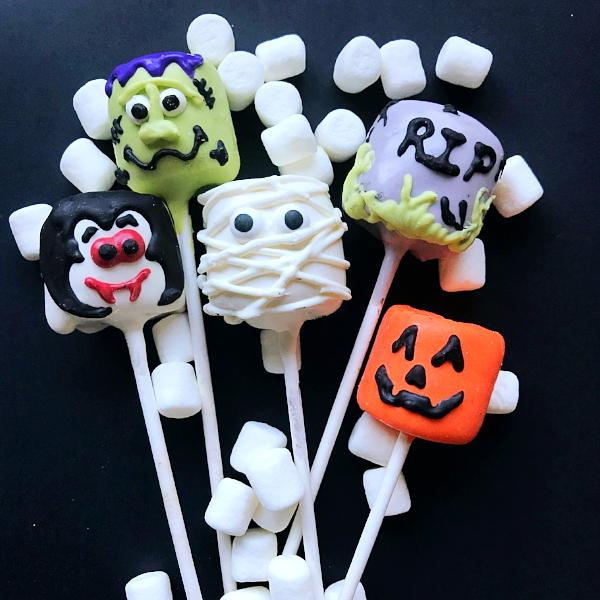Decorated Marshmallow Pops - Halloween