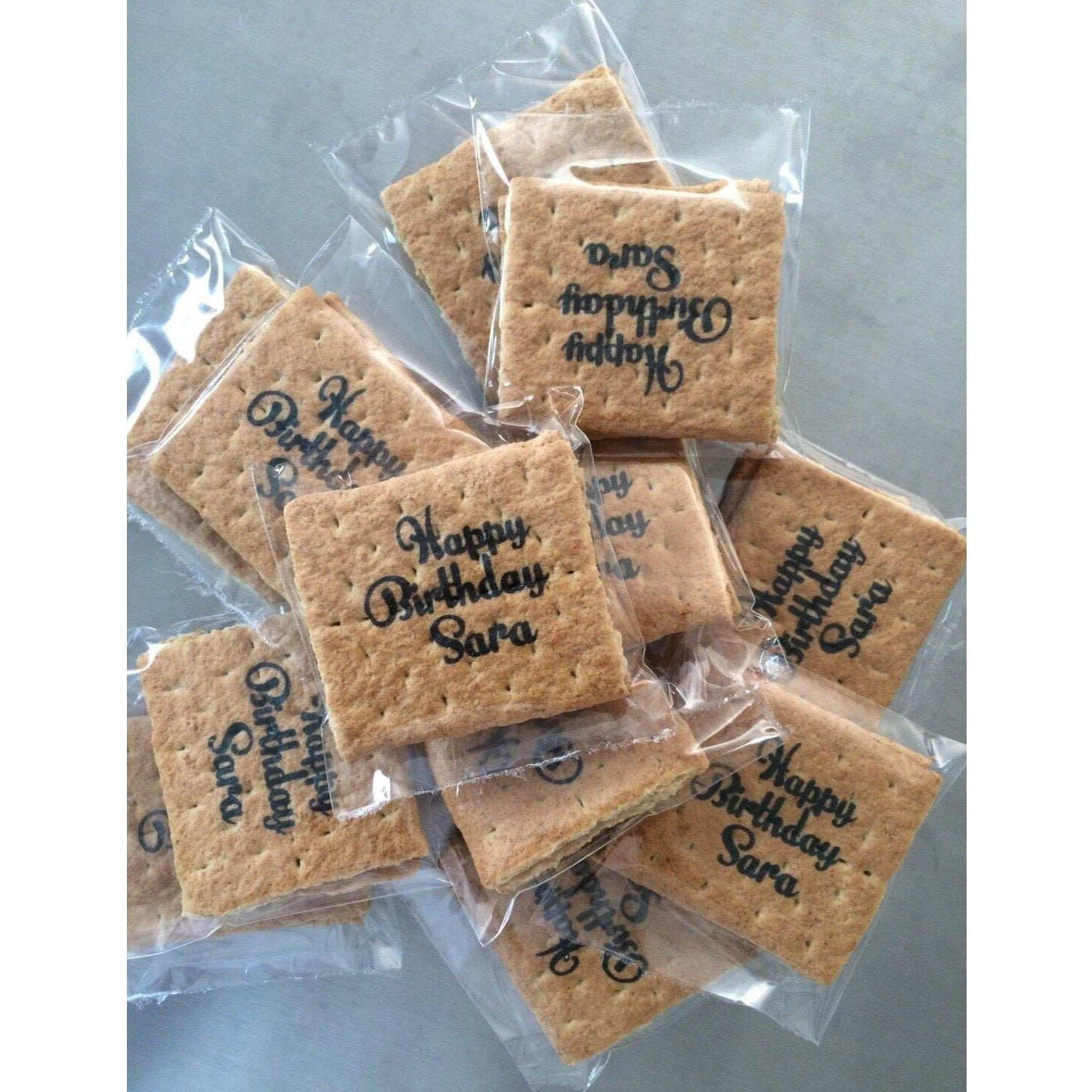 Printed Graham Cracker Squares - Custom Corporate, Set of 24 Individually wrapped