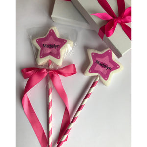 Star Marshmallow Wand Pop - Customizable, Princess Design