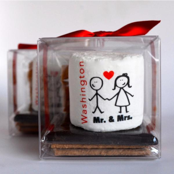Custom S'more Kit - Wedding Stick Figure Couple