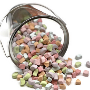 Dehydrated colorful cereal marshmallows