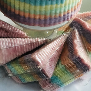 Cotton Candy Cake Slices