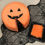 Jack O Lantern Cotton Candy Cake