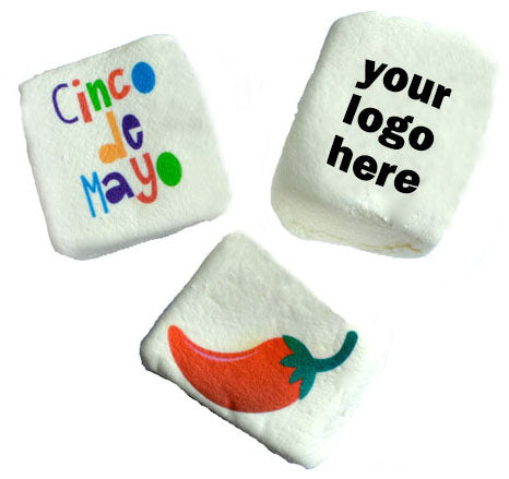 Design Your Own Square Marshmallow with Your Brand's Logo or Any Personal Image