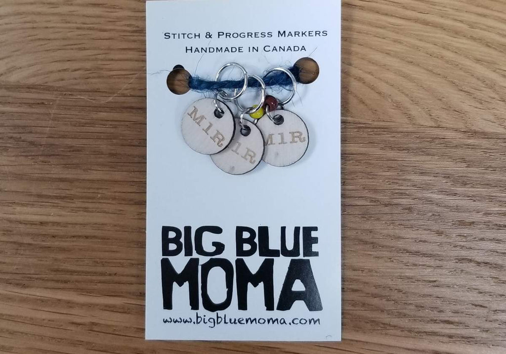 Big Blue Moma - Stitch Markers