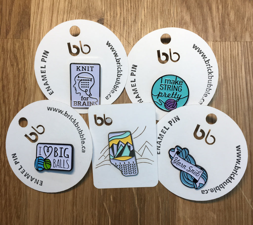 Brick Bubble Enamel Pins