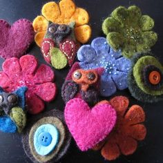 Fibres of Life - Felted Pins