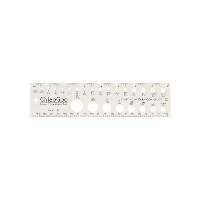 ChiaoGoo Swatch and Needle Gauge - Small