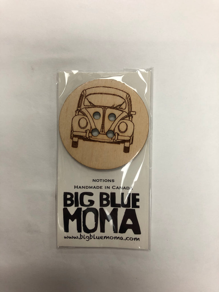 Big Blue Moma - Wooden Buttons