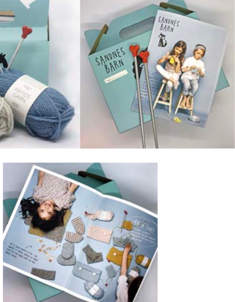 Sandnes Barn - Learn to Knit Kit