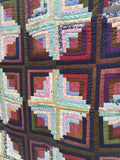 Sunshine and Shadow Log Cabin Quilt