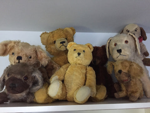 Early stuffed toy bears and dogs