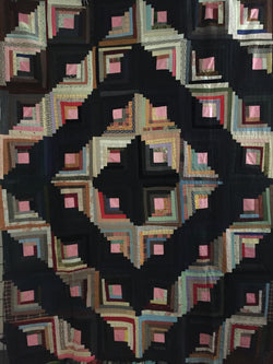 Log Cabin Barn Raising Quilt Top