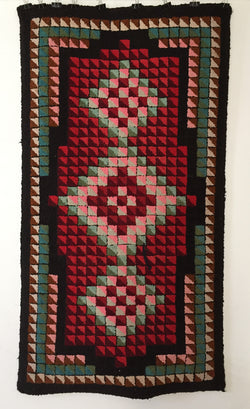 New Brunswick Geometric Hooked Rug