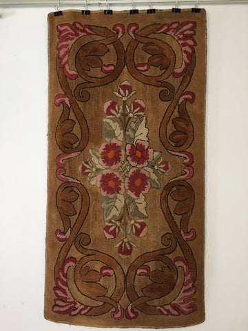 19th Century Hooked Rug