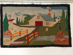 Scenic Hooked Rug