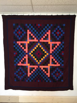 Sunshine and Shadow (Eight-Point Star Variation) Mennonite Quilt