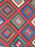 Chevron Log Cabin Quilt