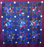 Mennonite Spider-Web Star Quilt