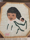 Grenfell Mat of Inuit Mom and Papoose