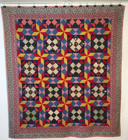 Eight Point Star  -  Nine Patch  -  Pin Wheel - Mennonite Quilt  -  SOLD