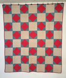 Mennonite Quilt  -  Diamonds and Squares