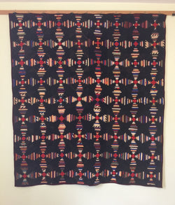 Pineapple Log Cabin Quilt -  SOLD