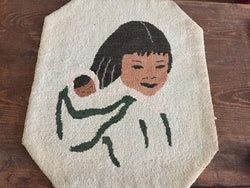 Grenfell Mat of Inuit Mom and Papoose  -  SOLD