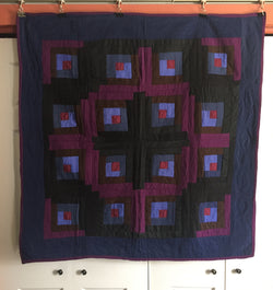 Mennonite Log Cabin Crib Quilt