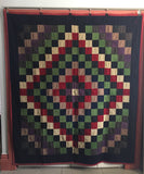 Mennonite wool Quilt  -  Trip-around-the-World