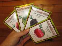 4 packets of Prairie Road Organic Seed