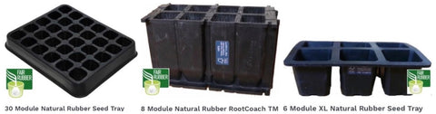 Natural rubber planting trays
