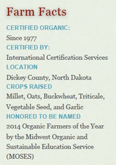 Farm Facts Prairie Road Organic Seed