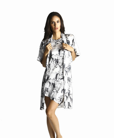pjMe Manhattan Summer Robe - 100% silk
