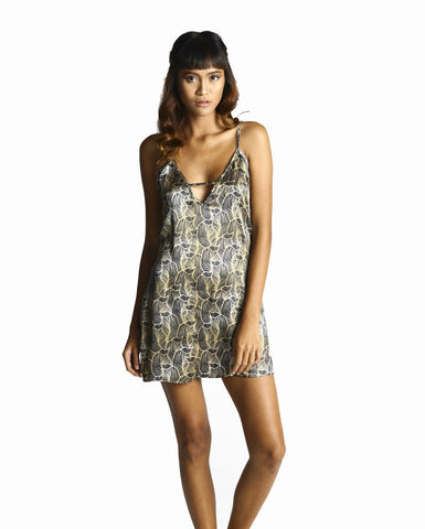 pjMe Luxe Leaf Chemise - 100% Silk - front