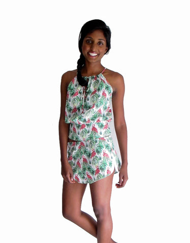 pjMe Flamingo Halter Top - 100% cotton