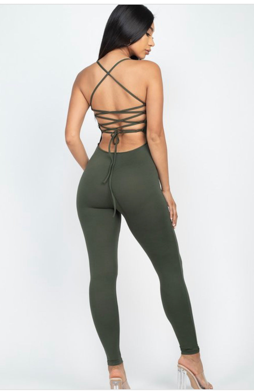 Criss-Cross Back Jumpsuit