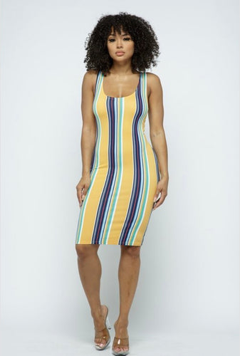 Striped Multi Color Dress