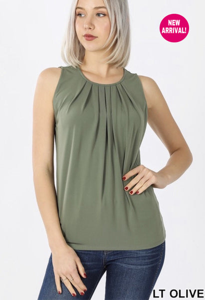 Perfectly Pleated Layering Tank (more colors)