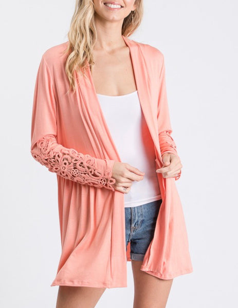 Go with your Heart Cardigan (Peach or Black)