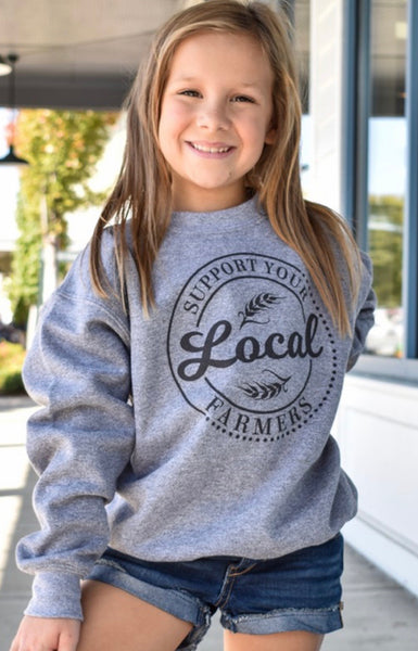 Youth Support Your Local Farmers Sweatshirt