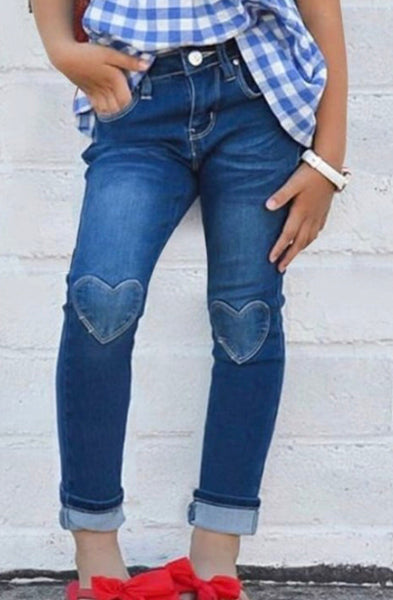 Kids Heart Denim Jeans
