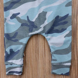 Boys Blue Camo Romper