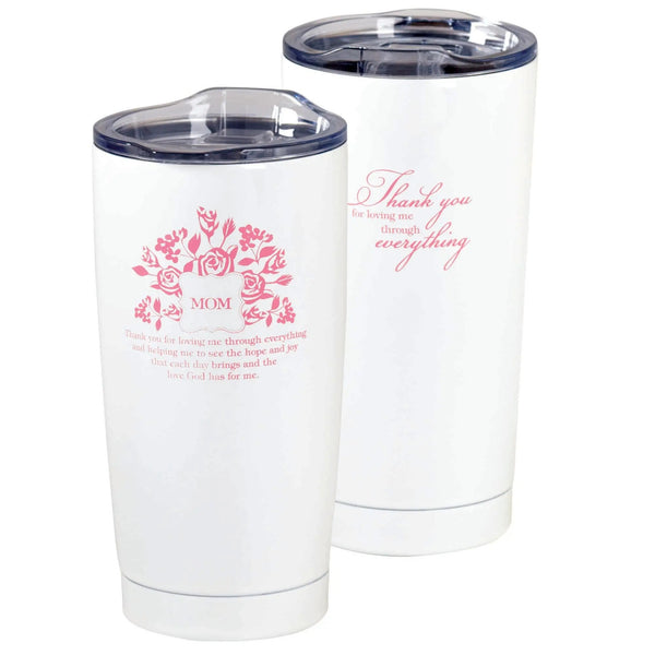 Mom Thank You Stainless Steel Tumbler White 20 oz