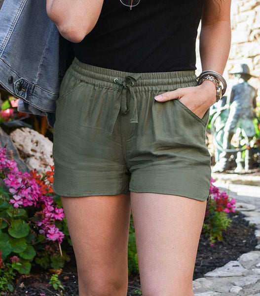 Twill Summer Shorts - Olive