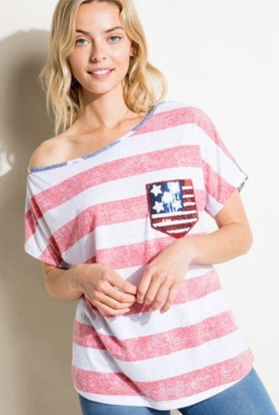 Stars and Stripes Top - Plus