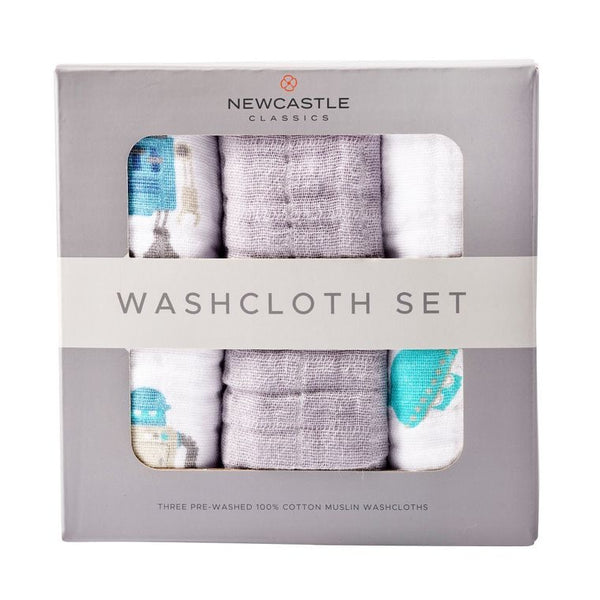 Robot Washcloth Set of 3