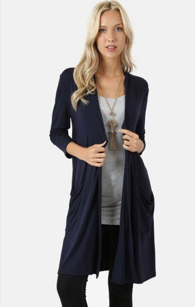 Slouchy pocket Cardigan ( more colors)