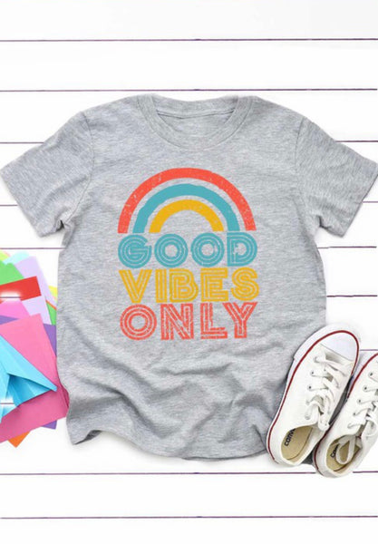 Kids Good Vibes Only Tee