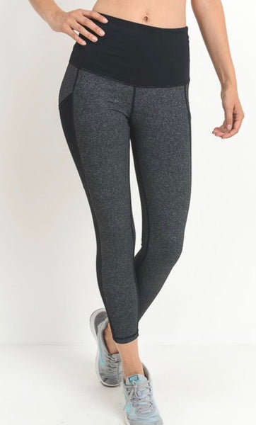 Charcoal Mesh Full Legging